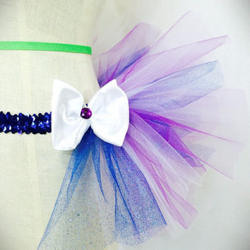 Blue, purple and white half tutu for adult or kids edc/ rave wear / dance costume / dance wear