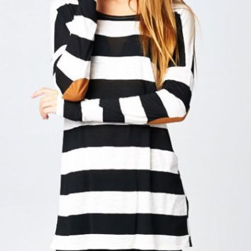 Black And White Stripe Long Sleeve Shirt