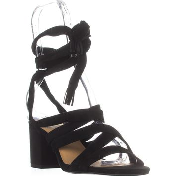 Lucky Brand Idalina Lace-Up Strappy Sandals, Black, 8 US / 38 EU