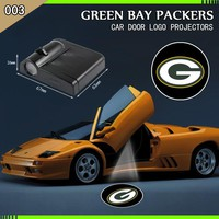 2 Piece Green Bay Packers Car Door Projectors