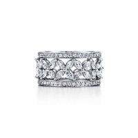 Tiffany & Co. - Tiffany Victoria™ band ring in platinum with diamonds.