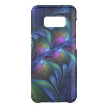 Colorful Luminous Abstract Blue Pink Green Fractal Get Uncommon Samsung Galaxy S8 Case