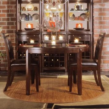 American Drew Tribecca 3 Piece Round Leg Table Set in Root Beer Color