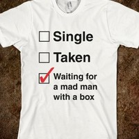 Single Taken Mad Man With A Box-Unisex White T-Shirt