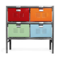BASKET LOCKER | High School Nostalgia Meets Colorful, Practical Home Storage | UncommonGoods