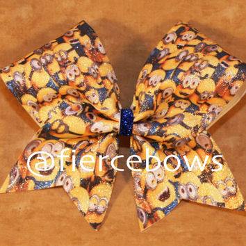 Minion Party Cheer Bow