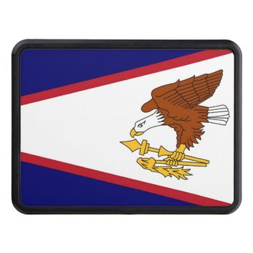 Patriotic hitch cover with Flag of American Samoa