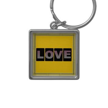 Love Square Keychain