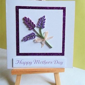 Mothers day card, card for mum, card for mom, greeting card, handmade card, quilled card, happy mothers day, mum card, mothers day,