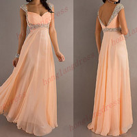 Bridesmaid dresses prom , long formal prom dresses , long prom dress , long evening dress prom , custom size and color