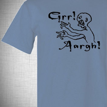 grr aargh . men's t shirt . buffy the vampire slayer tee . halloween gifts for men . s m l xl xxl