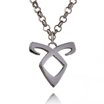 City of Bones Logo necklace Angelic Forces Power Rune Necklace Inspired by The Mortal Instruments shadowhunters colar for men