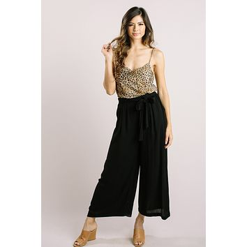 Trina Black Wide Leg Pants