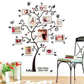 Vinyl Wall Sticker / Decal - Free Shipping - Family picture frame tree