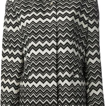 Gianni Versace Vintage zig zag patterned jacket