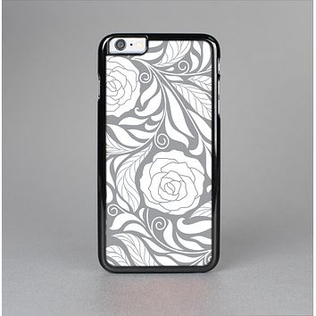 The Gray Floral Pattern V3 Skin-Sert Case for the Apple iPhone 6