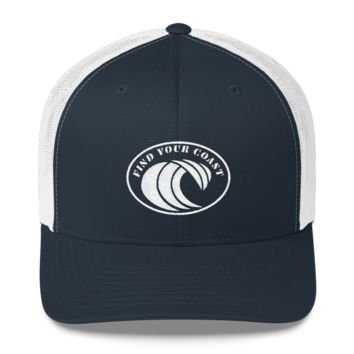 Find Your Coast Original Wave Trucker Hat With Mesh Back
