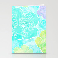 Happy flower Stationery Cards by Claudia Owen | Society6