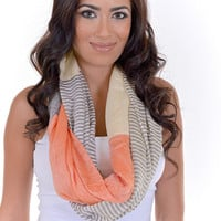 Peaches and Cream Infinity Scarf