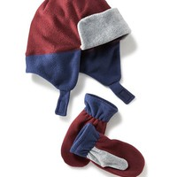 Old Navy Performance Fleece Hat & Mitten Sets For Baby