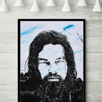 Printable Fine Art, Digital File,  Print of original art work, Leonardo DiCaprio, Modern Art