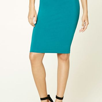 Cotton-Blend Pencil Skirt