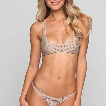 Kailua Mesh Bikini Top in Clay/Beach Babe