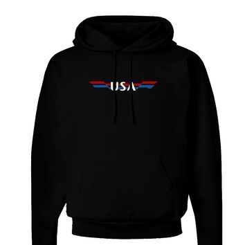 USA Stripes Vintage Dark Hoodie Sweatshirt