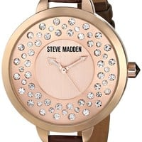 Steve Madden Women's SMW00100-05 Analog Display Quartz Brown Watch