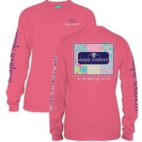 *Simply Southern LS Patchwork Pink