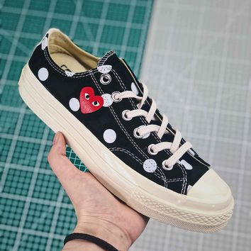 Cdg X Converse Chuck Taylor All Star 1970s Low Top Black - Best Online Sale