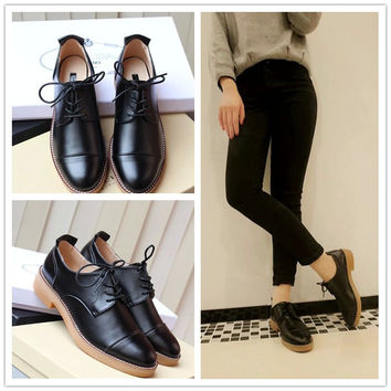 Thick Crust Round-toe Casual Shoes [4918350148]