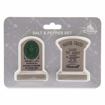 Disney Haunted Mansion Tombstone Leota Master Gracey Salt and Pepper Shaker New