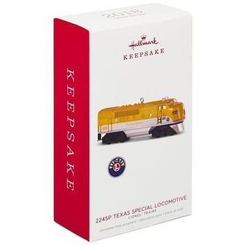 Hallmark Keepsake 2018 2245P Texas Special Locomotive Limited Ornament New Box