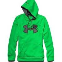 Under Armour Big Logo Storm Hoodie for Men in Green Energy 1248321-300