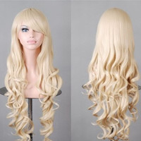 Long silk fluffy wig into high temperature popular animation wig long curly hair wig in Europe