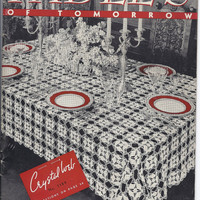 Tables of Tomorrow Vintage crochet patterns 1939 tablecloths napkins placemats doilies