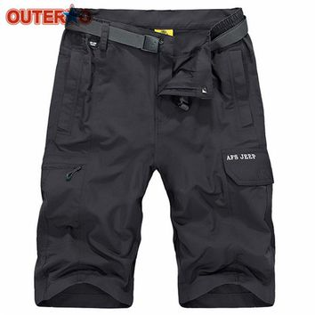 Nylon Summer Mens Cargo Breathable Loose Water-repellent Cycling Shorts Bicycle Shorts Outdoor Climbing MTB Bike Short Equipment