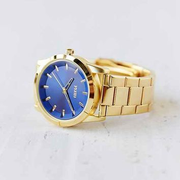 Flud The Moment Gold & Blue Watch- Gold One