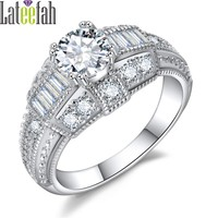 Lateefah Female Vintage Wedding Rings for Women Victorian Wieck Jewelry Diamonique CZ Engagement Promise Ring Girls Anel Bague