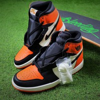 Nike Air Jordan 1 Retro High OG Shattered Backboard Basketball Shoes Sneaker - Best Online Sale
