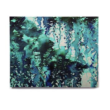 "Ebi Emporium ""The Perfect Storm - Turquoise"" Blue Teal Painting Birchwood Wall Art"