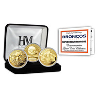 Denver Broncos 2-time Super Bowl Champions Gold Game Coin Set