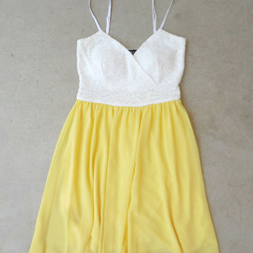 Lace & Lemon Party Dress [7270] - $33.60 : Feminine, Bohemian, & Vintage Inspired Clothing at Affordable Prices, deloom