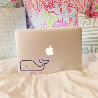 Vineyard Vines Inspired Whale Outline Decal