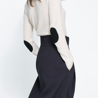 SWEATER WITH ELBOW PATCHES - Sweaters - Knitwear - Woman | ZARA United States