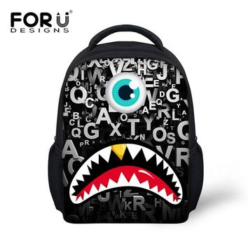 Toddler Backpack class FORUDESIGNS School Bags For Toddler Baby Boys Camouflage 3D Shark Tooth Children Schoolbags Kids Kindergarten Backpack Escolar AT_50_3