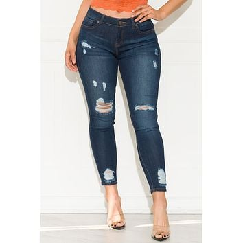 Count On Me Skinny Mid Rise Jeans