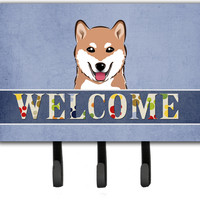 Shiba Inu Welcome Leash or Key Holder BB1411TH68