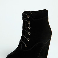 Jennifer Lace Up Wedge Shoe Boots